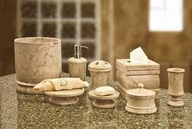 bathroom set ideas with elegant brown bathroom accessories sets