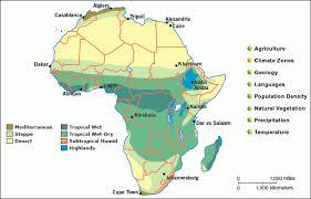 africa map climate zones grolier atlas