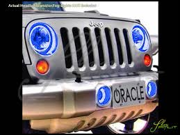 jeep wrangler blue headlights 07 16 jeep wrangler led dual color halo rings headlights bulbs
