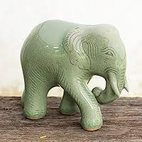 ceramic elephant novica