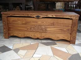 Wooden Ottomans Wooden Blanket Box Coffee Table Trunk Vintage Chest Wooden Ottoman