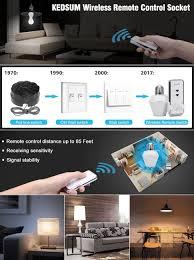 remote control light bulb socket kedsum wireless remote control e26 e27 light bulb socket on off