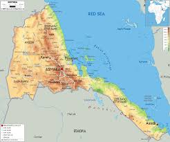 Africa Map Physical by Map Of Eritrea Vacations Travel Map Holiday