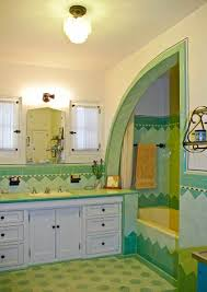 a bright art deco bathroom old house restoration products