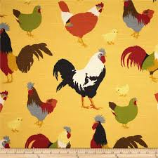 Rooster Swag Curtains by Screen Printed On Cotton Slub Duck Slub Cloth Has A Linen