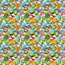 tmnt wrapping paper cotton fabric character fabric tmnt icon toss mutant