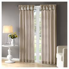 Button Top Curtains Lillian Twisted Tab Lined Curtain Panel Target