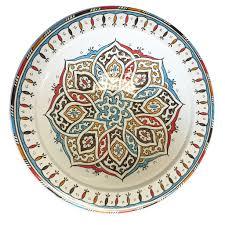 painted platter moroccan painted platter multicolor fair trade handmade