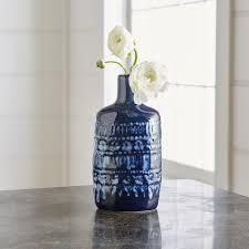 Cobalt Blue Vases Celine Stamped Blue Vases