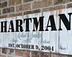 Custom Decorative Signs Custom Outdoor Name Signs Etsy
