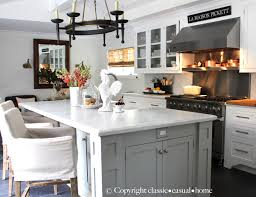 classic casual home kitchen island dcor and casual mediterranean