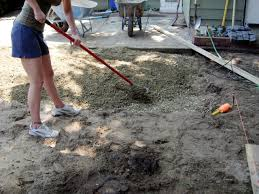 Painting A Cement Patio by How To Install A Cobblestone Patio On Concrete Or Bare Soil How