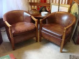 Leather Armchairs Vintage 2 Mid Century Modern Vintage Hollywood Regency Brown Leather