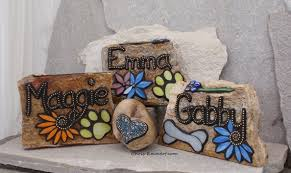pet memorial garden stones larger pet memorial garden stones mosaic by chrisemmertmosaic