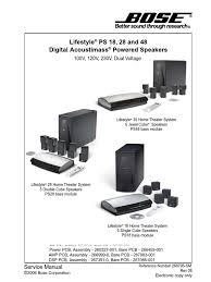 bose lifestyle home theater system bose lifestyle ps18ps28ps48 service manual electrostatic