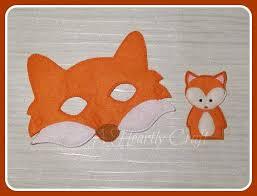 fox mask and finger puppet set woodland forest animal mask