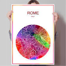 Rome Italy Map Online Get Cheap Rome Map Aliexpress Com Alibaba Group