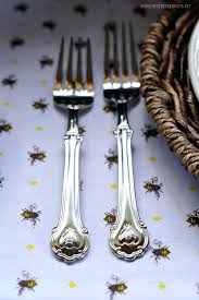 sur la table flatware wallace bee flatware flatware is buzzing with bees and on a table