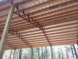 Truss Spacing Pole Barn Pole Barn Metal Truss System Pole Barn Garages Pinterest