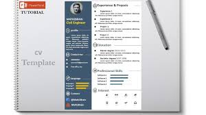 resume tutorial how to design cv resume template tutorial تصميم سيرة ذاتية youtube