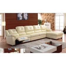 china modern living room leather recliner l shape coner sofa 6047l