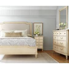 stanley bedroom furniture stanley european cottage queen upholstered bed in vintage white