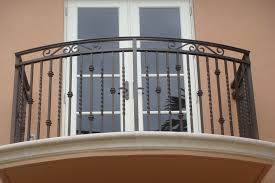 Painting Banisters Ideas Exteriors Amusing Black Iron Metal Balcony Railing Fence Double