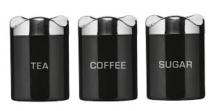 kitchen canisters black black band presso glass canisters by bodum the container store