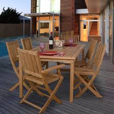 teak outdoor dining sets for less overstock com