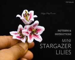 stargazer lilly mini stargazer crochet flower pattern crochet