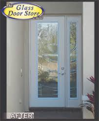 glass door tampa cut the double door to add glass door inserts homeowners added