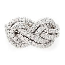 infinity diamond ring infinity knot diamond ring deluxe