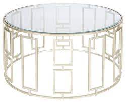 Round Coffee Table With Shelf Inspiring Round Metal And Glass Coffee Table Gold Metal And Glass