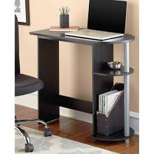 desk with shelves on side mainstays computer desk black walmart com
