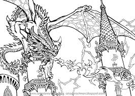 detailed coloring pages of dragons dragons coloring pages