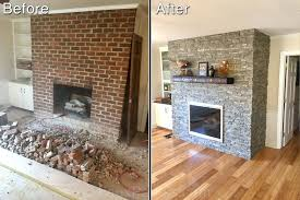fireplace brilliant reface fireplace with stone for house