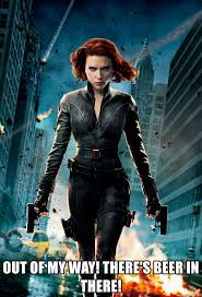 Black Widow Meme - out of my way there s beer in there black widow scarlett