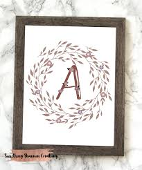 wall decor home decor home living monogram letter a printable floral monogram letter a printable letter a wall art