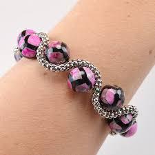 beaded chain bracelet images Bead and chain curves bracelet dream a little bigger jpg