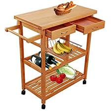 wood kitchen island cart amazon com tenive pine wood dining trolley rolling kitchen