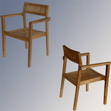 Wood Patio Chairs Furniture Stainless Steel Teak Extension Stacking Chairs Outdoor