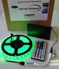 how to power led strip lights battery powered 5050 rgb led strip light kit 44 key remote