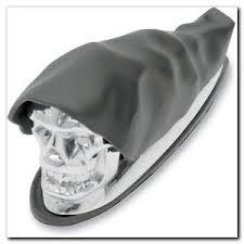 drag specialties skull chrome fender trim ornament 4 harley