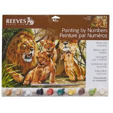 reeves paint by numbers assorted the warehouse