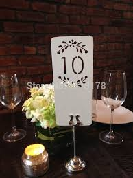 Table Numbers Wedding Aliexpress Com Buy Floral Laser Cut Table Numbers Wedding Place