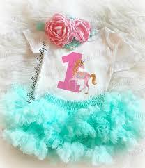 birthday onesie girl baby whimiscal vintage unicorn birthday onesie pink aqua