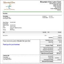 Lawn Maintenance Invoice Template by Lawn Service Invoice Software Rabitah