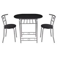 amazon kitchen furniture amazon com giantex 3 pcs bistro dining set table and 2 chairs