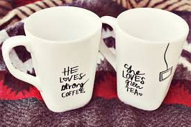 his and hers mug his sharpie mug diy a beautiful mess