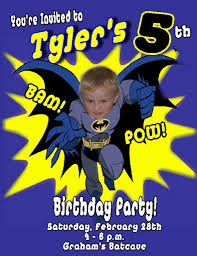 Customized Birthday Invitation Cards Batman Birthday Invitations Redwolfblog Com